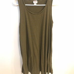 Mossimo Green and Black Striped Dress
